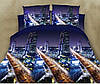 3D Двоспальне постільна білизна Ranforce - нічне місто