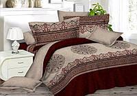 """3D Комплект постельного белья двуспального размера """"Ranforce"""" бордо"""