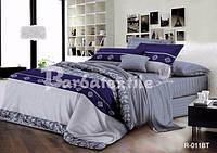 """3D Комплект постельного белья двуспального размера """"Ranforce"""" синяя абстракция"""