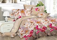 """3D Комплект постельного белья двуспального размера """"Ranforce"""" - цветы"""