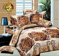 """Двуспальное постельное белье """"Ranforce"""" - леопарды"""