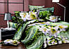 """Двоспальне постільна білизна """"Ranforce"""" квіти"""