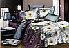 Двуспальное постельное белье Ranforce - белые цветы