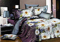 Двоспальне постільна білизна Ranforce - білі квіти