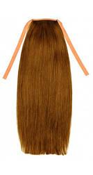 Накладной хвост из славянских волос 50 см. Цвет #10 Русый