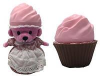 Мягкая игрушка серии  Ароматные капкейки  МИЛЫЕ МЕДВЕЖАТА Клубничный сорбет, с аром. клубники Cupcake Bears (1610033-1)