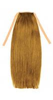 Накладной хвост из славянских волос 50 см. Цвет #12 Светло-русый