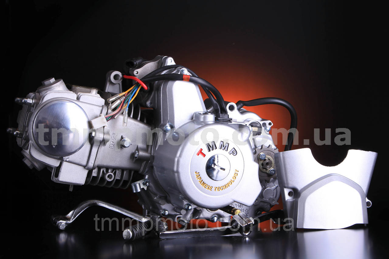 Двигатель Актив Дельта-125см3 54мм алюминиевый цилиндр полуавтомат  NEW
