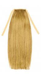 Накладной хвост из славянских волос 50 см. Цвет #27 Теплый блонд