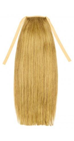 Накладной хвост из славянских волос 50 см. Цвет #27 Теплый блонд, фото 1
