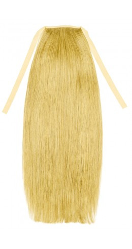 Накладної хвіст із слов'янських волосся 70 см, 150 грам. Колір #613 Блонд