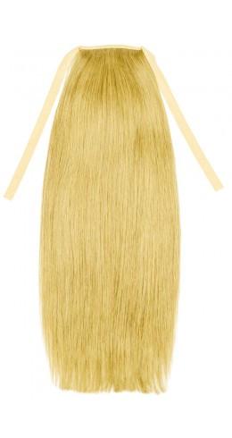 Накладной хвост из славянских волос 70 см, 150 грамм. Цвет #613 Блонд, фото 1