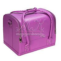 Бьюти Кейс для косметики, фиолетовый матовый