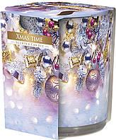 """Арома свеча в стекле высокая """"Рождество"""""""