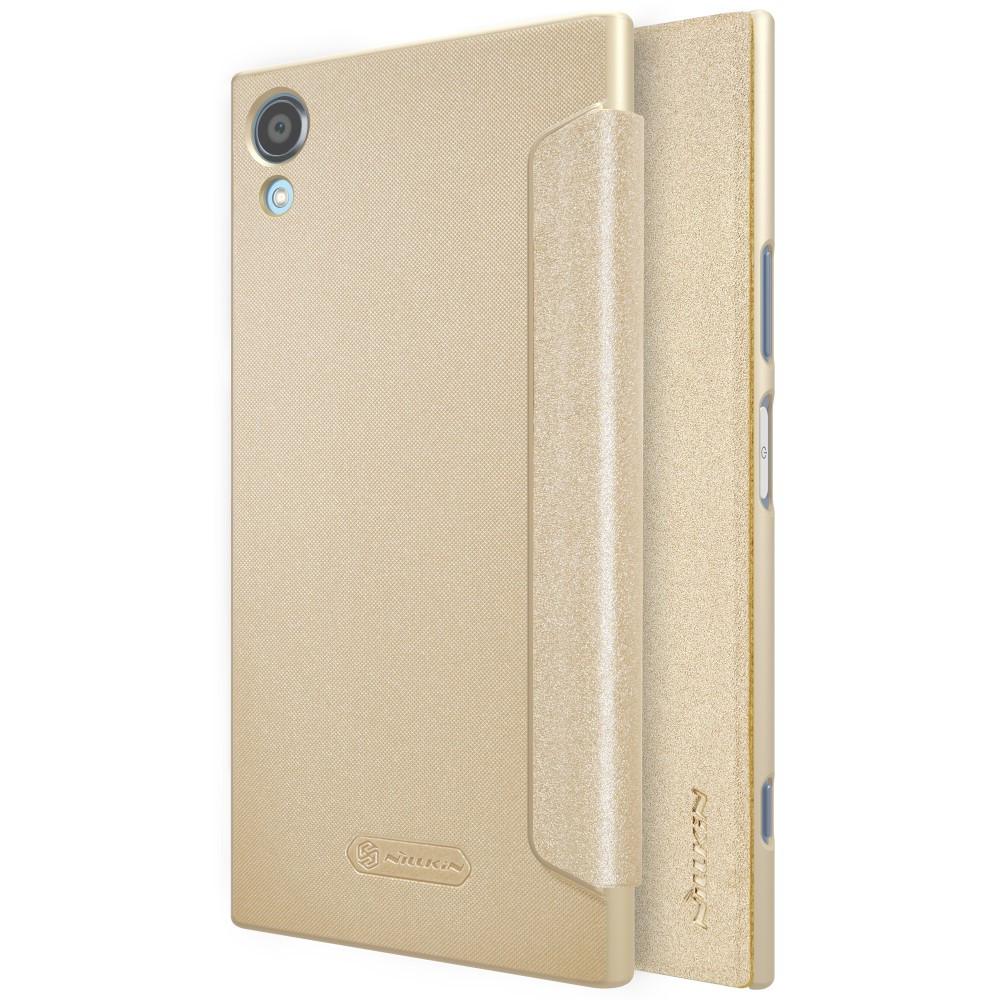 Чехол книжка Nillkin Sparkle Series для Sony Xperia XA1 Plus золотистый