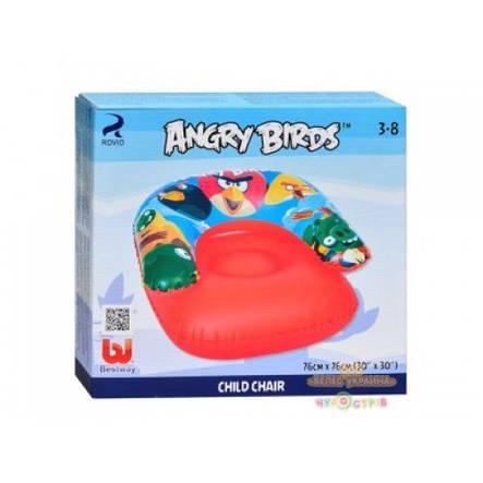 Кресло надувное Angry birds Bestway 96106 в коробке, фото 2
