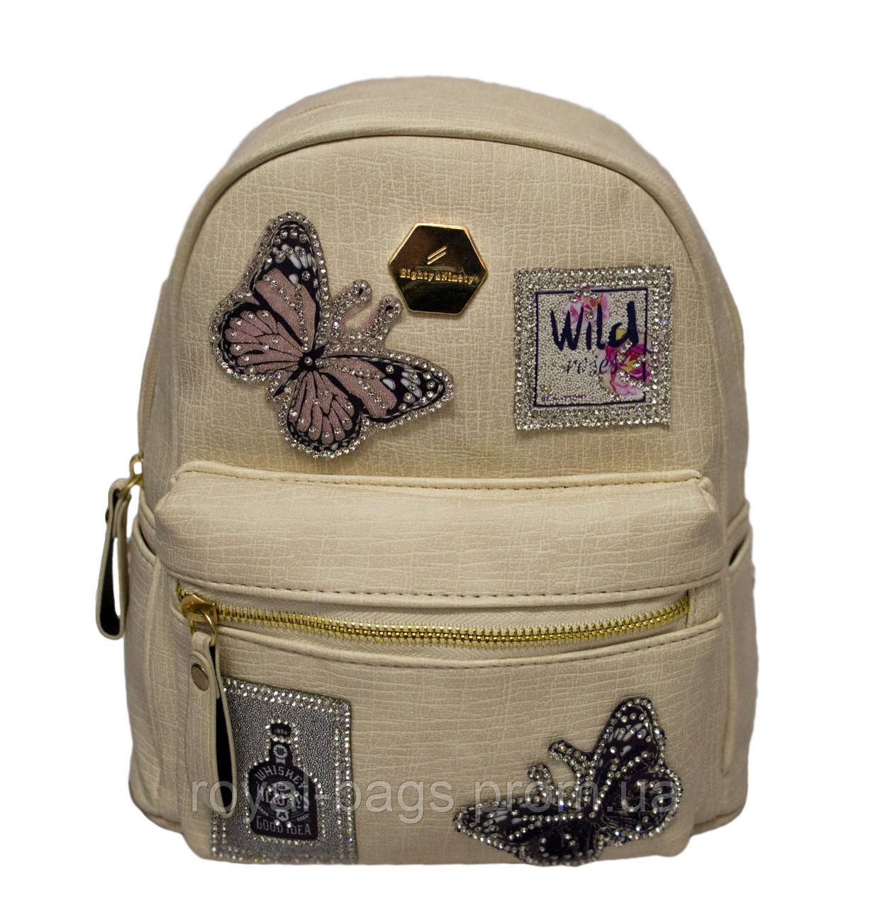Рюкзак Wild butterfly 4 Цвета Бежевый