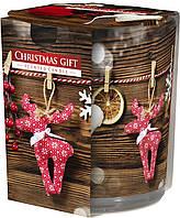 """Арома свеча в стекле высокая """"Рождественский подарок"""""""