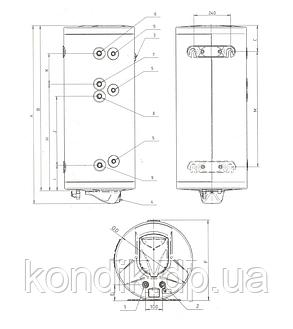 Бак косвенного нагрева Roda CS0150WHD, фото 2