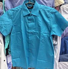 Детская рубашка на мальчика Школа Bagin, короткий рукав белый, фото 2