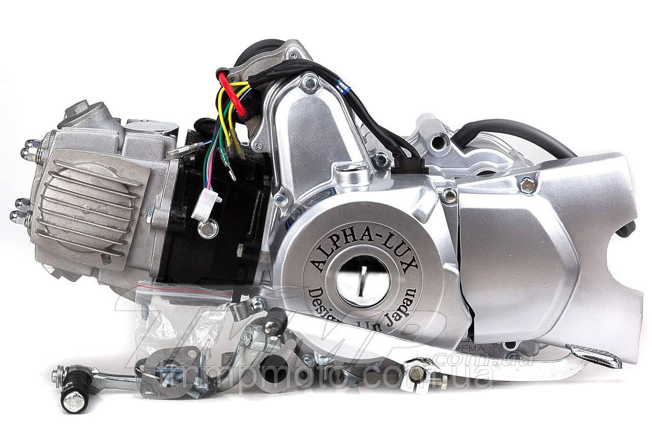 Двигатель + карбюратор Дельта/Альфа 110 см3 d-52,4 мм механика Аlpha-Lux