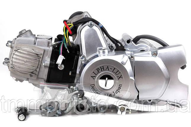 Двигатель + карбюратор Дельта/Альфа 110 см3 d-52,4 мм механика Аlpha-Lux, фото 2