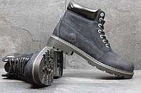 Мужские зимние ботинки Timberland (Тимберленд) код 3638 темно синие