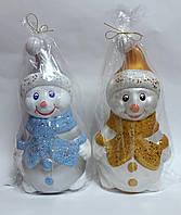 Новогодняя игрушка Снеговик большой под елку Пластик 80119 Китай