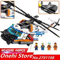 Конструктор LEPIN 02068 (АналогLEGO 60166 Сверхмощный спасательный вертолёт CiTiES)