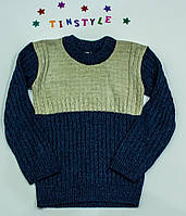 Вязаный свитер на мальчика на  рост 128 см, фото 1