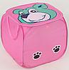 "Корзина для игрушек F 21507 (120) ""Мишка"" розовая 46х46см"