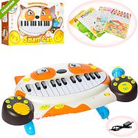 Синтезатор пианино детское с микрофоном Cat 8710D, фото 1