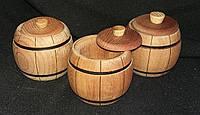 Бочечки с крышкой из дерева, в-8см, д-7см 25/20 (цена за 1 шт. +5 грн.)