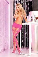 Колготки Shredded and torn tights Pink, S/L