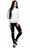 Білосніжний стильний в'язаний светр Kanada (S-L)