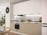 Кухни на заказ с крашенными матовыми фасадами, фото 1