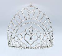 Свадебная Корона на металлической основе серебристого цвета
