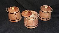 Ведро буковое с крышкой в-7,5 см, 25\20 (цена за 1 шт. + 5 грн.)