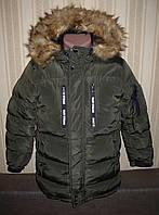 Куртка зимняя аляска удлинённая для мальчиков 134/140 Венгрия