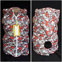 Стильная жилетка для девочки с ярким орнаментом, 98-140 см., 550/480 (цена за 1 шт. + 70 гр.)