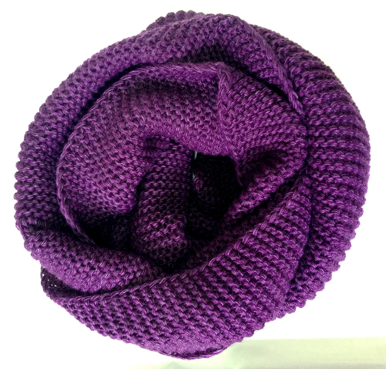 Шарф снуд (хомут), фиолетовый
