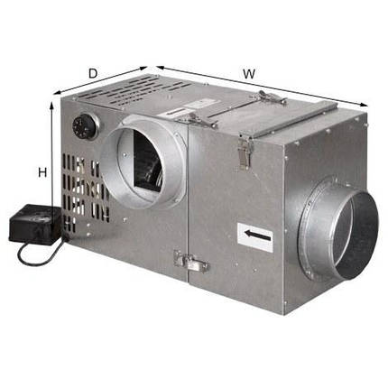 Турбина для камина (турбовентилятор) PARKANEX 400 м3/ч с фильтром, фото 2