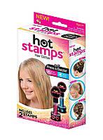 Блестящие тату для волос Hot Stamps, цветные тату Хот Стемпс, фото 1