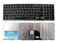 Оригинальная клавиатура для ноутбука Sony E15, E17, SVE15, SVE17 series, rus, black