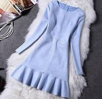 Платье замш голубой 8805 размер М