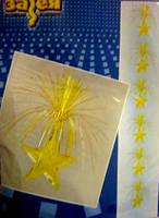 Вертикальная гирлянда Звезды золотистые