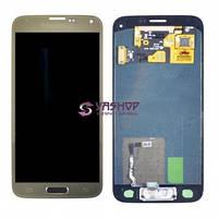 Дисплей Samsung G800H, G800F Galaxy S5 mini с сенсором (тачскрином) золотой Оригинал Китай