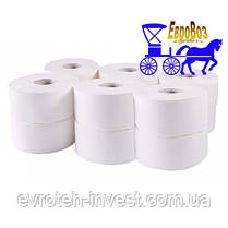 Туалетная бумага Джамбо 12 рулонов 845 отрывов, steel-to-rubber