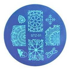 Стемпинг диск метал. малый круглый d=5.5cm STZ-01