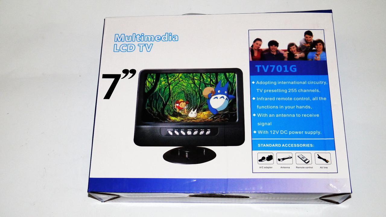 """7"""" Портатитвый телевизор с аккумулятором TV USB+SD"""
